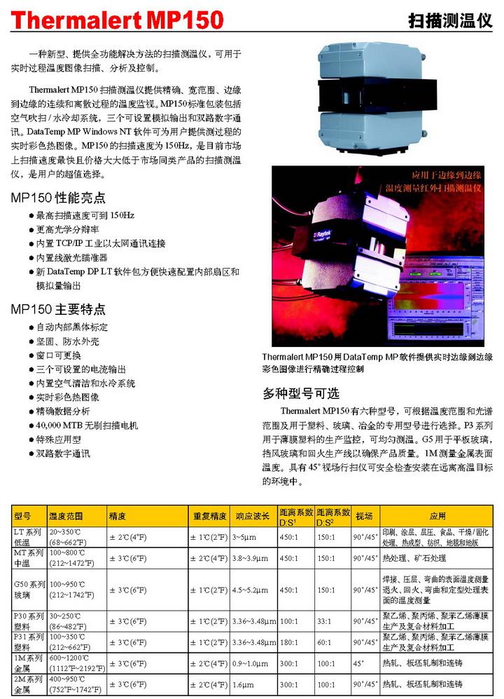 雷泰红外扫描测温系统